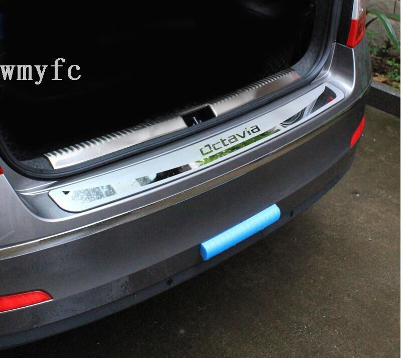 Para Skoda Octavia A7 2015-2017 Carro Sedan-Stying Após guarda Choques Traseiro Tronco Guarda Porta Placa Soleira acessórios do carro
