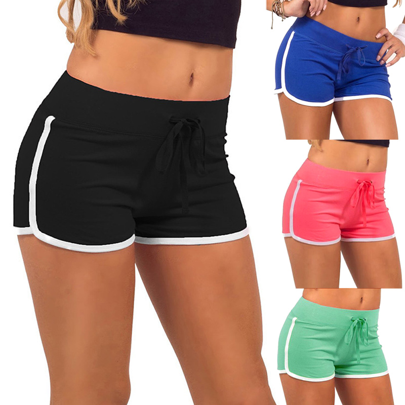 Fashion Women Lady Cotton Sport Shorts Mid Waist Elasticity For Summer Beach Sexy Short Women's Clothing Fitness Shorts