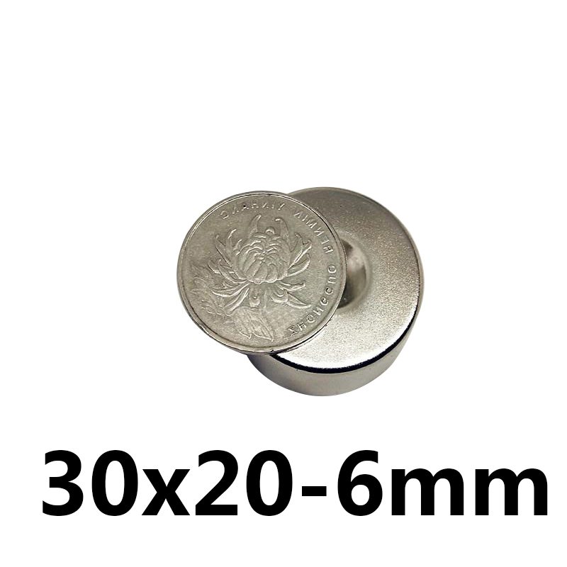 1pcs Strong Round Magnets 30x20mm with Countersunk Hole 6mm Rare Earth Neodymium Ring Magnet 30*20mm 30x20mm1pcs Strong Round Magnets 30x20mm with Countersunk Hole 6mm Rare Earth Neodymium Ring Magnet 30*20mm 30x20mm