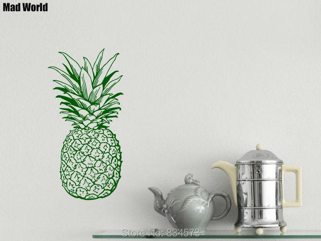 Mundo loco de Pino Piña Fruit Food Kitchen Cafe Arte Pegatinas de ...