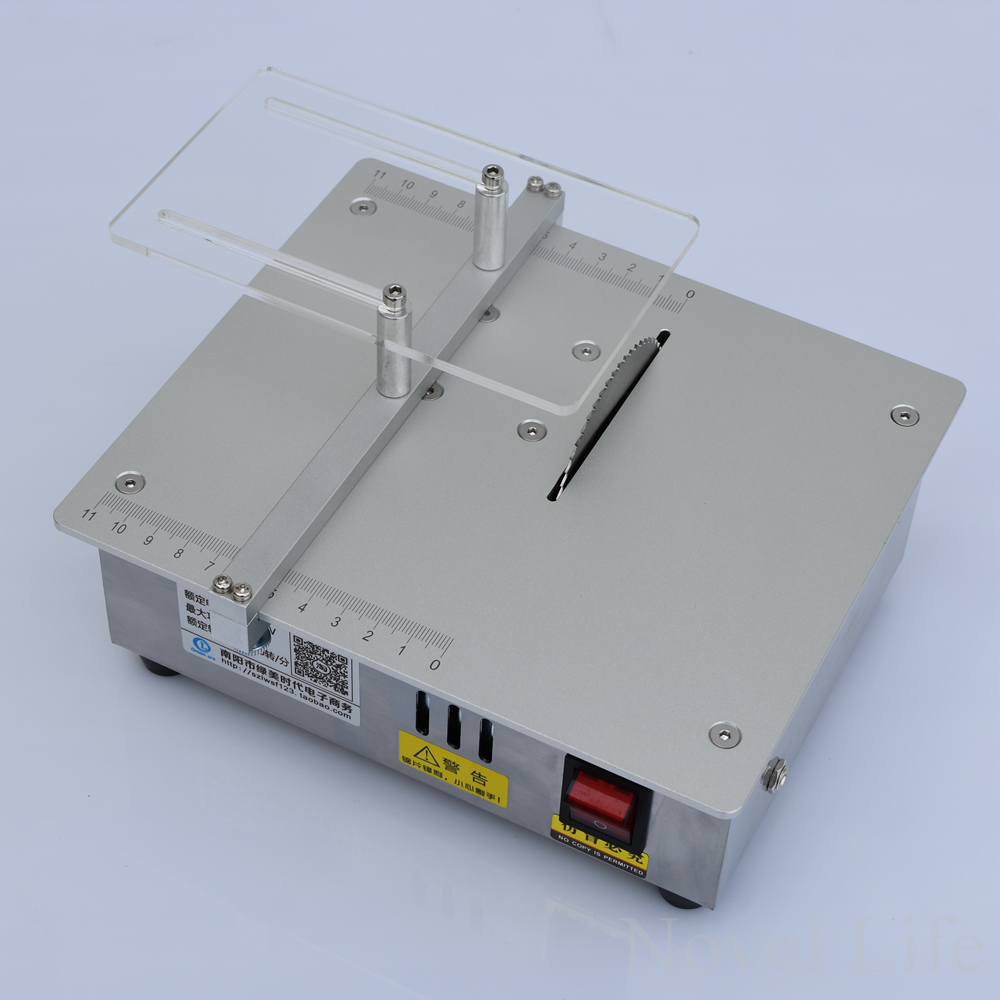 Mini Hobby Table Saw Handmade Woodworking Bench Lathe Diy Model Cutting Saw 3700rpm With Power