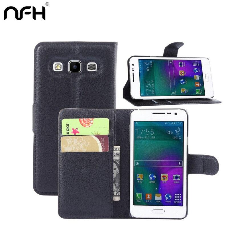 ღ ღPara el caso de cuero Samsung A3 tarjeta Flip cover teléfono ...
