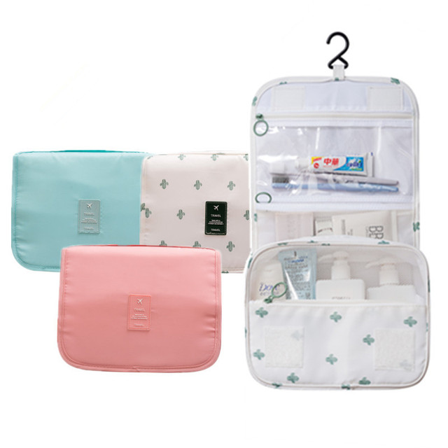 e7dce3ca0192 US $16.8 |Hanging Toiletry Kit Travel Cosmetic Bag Male Ladies Large  Capacity Waterproof Makeup Bag Portable Storage Bag Carry Case-in Cosmetic  Bags & ...