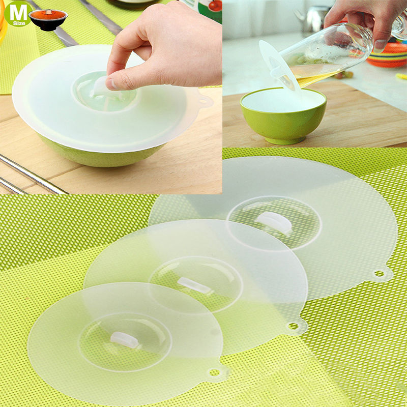 LINSBAYWU 1PC Clear White Silicone Cup Cover Lid Kitchen