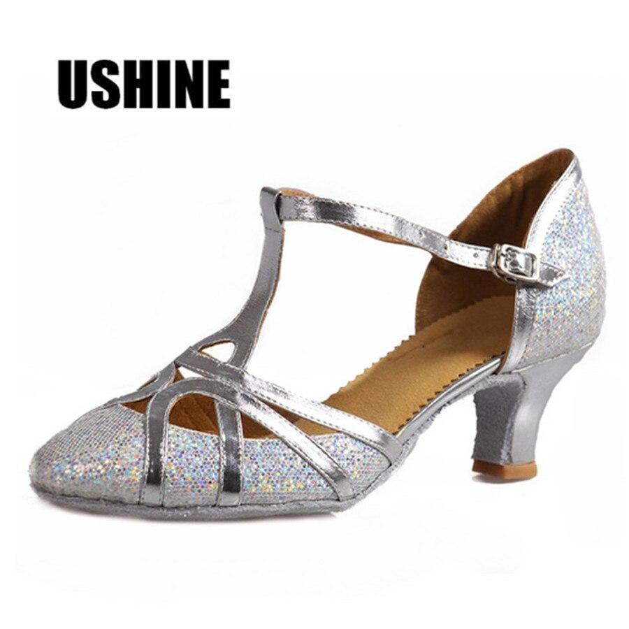 Latin Dance Heels Gliters Tango Latin Dance Shoes Woman Zapatos Salsa Mujer Zapatos De Baile Latino Mujer 511 Free Shipping