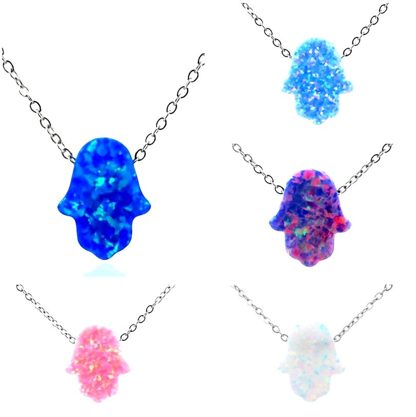 collier perle bleu juif
