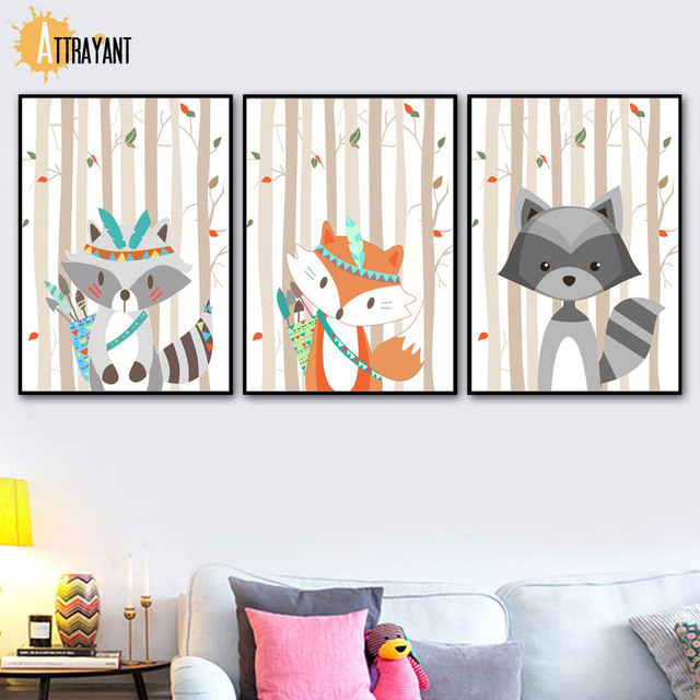 Forest Animals – Wall Art Canvas for Kids Room