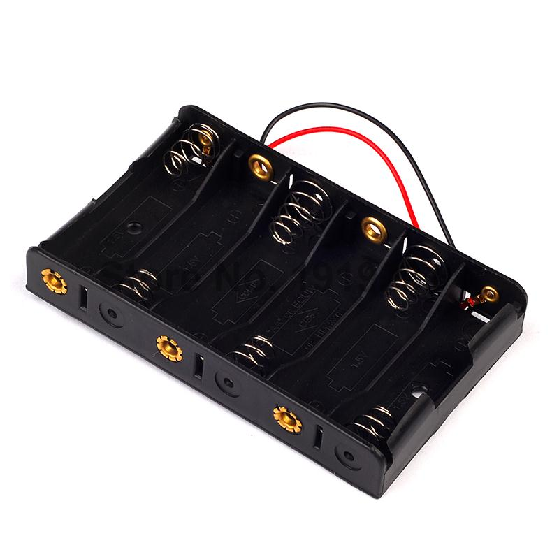 1pcs New 6 x 1.5V AA 2A CELL Battery Batteries Holder