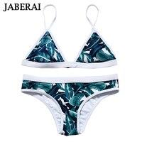 2016 New Leaf Print Bikini Brazilian Retro Bikini Swimsuits Sexy Bathing Suit Print Swimwear Brazilian Biquini