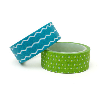 20pcs/set Special for Sea-blue Wavy Green Dot Washi Tape Beautify DIY Decoration and Paper