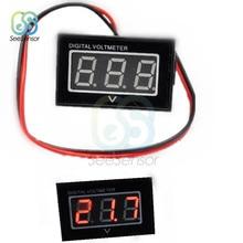Digital Voltmeter Two Wires LED Display Car DC 2.5-30V Panel Voltage Meter Waterproof Dustproof Shockproof Blue Green Red