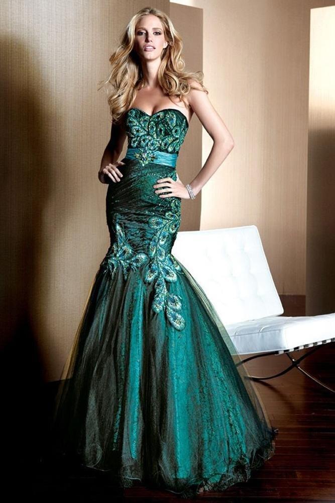 2016 Custom Made robe festa formatura Top Qualité Vert Paon Jupe À La Main Robe de Soirée Partie Robes Porm Robes
