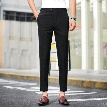 Pantalones De Traje De Vestir Lisos Caballero Hombre Modelo Rhino Pantalones Para Trabajar Skopes Ropa Pantalones De Traje