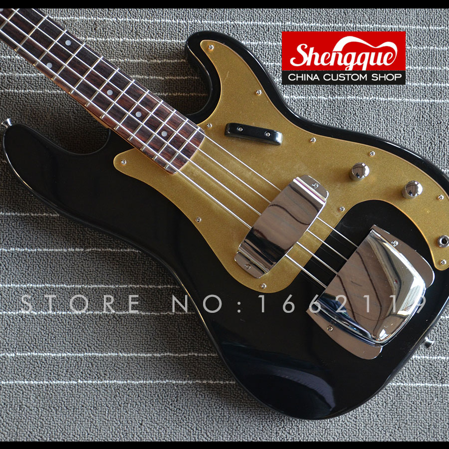 shengque factory custom p bass guitar 4 string bass guiar with gold pickgurde musical instrument. Black Bedroom Furniture Sets. Home Design Ideas