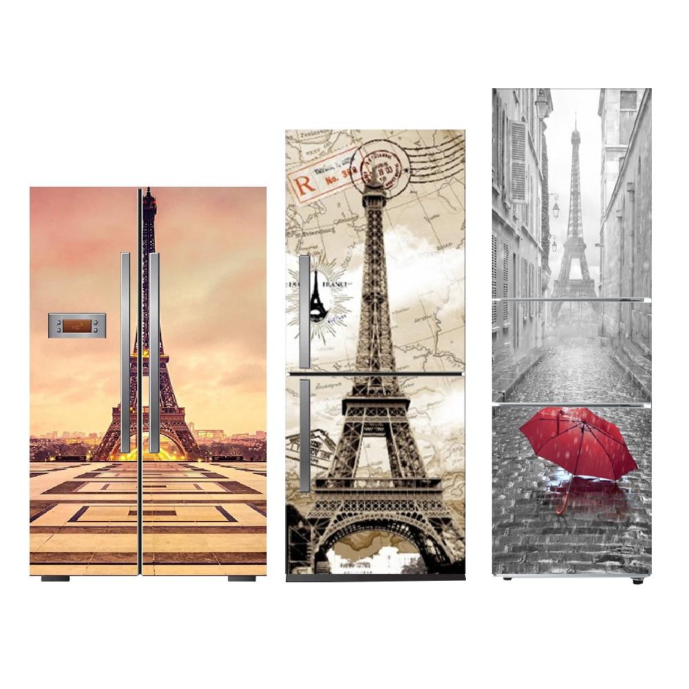Creative Paris Pattern Self Adhesive Vinyl Fridge Stickers