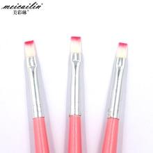 Professionals 1Pcs Nail Brush Pen Acrylic UV Gel Nails Art Pencil Flat Painting Drawing French Manicure Tools Nails Brush Pencil