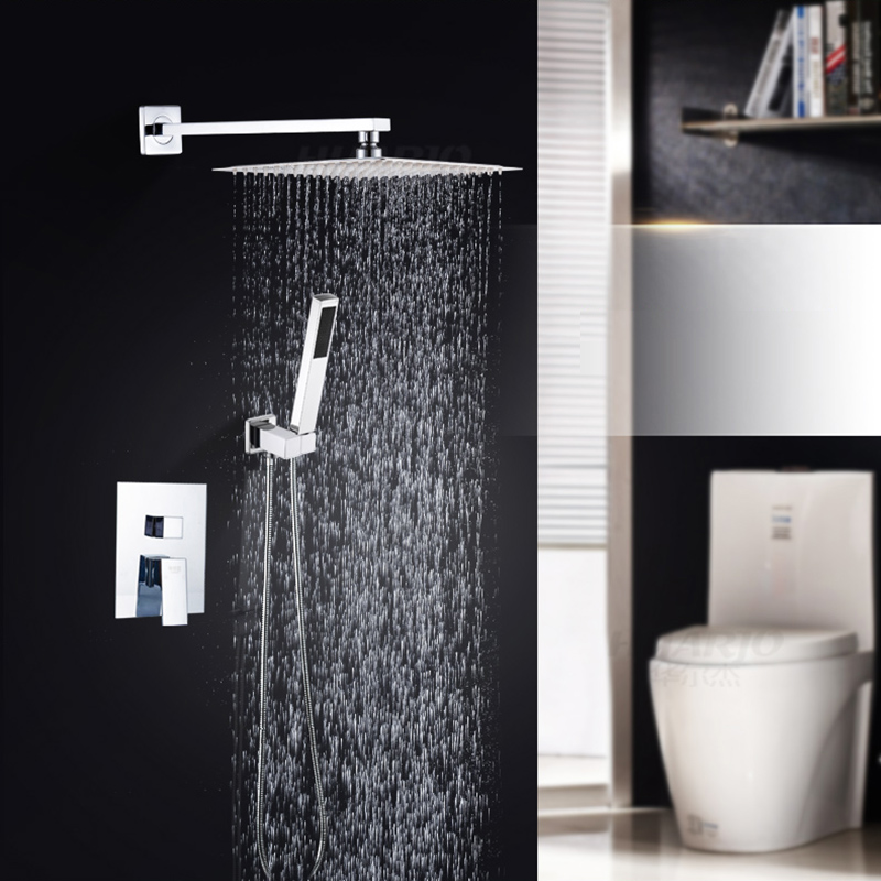 Concealed Chrome Finish Shower Faucet with handshower
