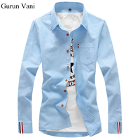 2016 New Fashion Casual Men Shirt Long Sleeve Trend Slim Fit Men Solid Color High Quality