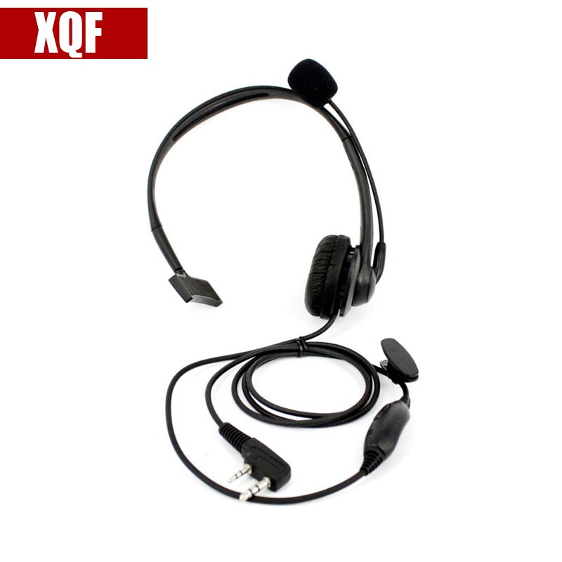 XQF Microphone 2 Pin PTT Mic Headphone Headset For Walkie Talkie Baofeng UV-5R UV-5RA UV-B5 UV-B6 BF-666S BF-888S UV-82 TG-UV2