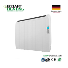 1500 watt Slimline Electric Panel Heater Radiator with 24/7 Digital timer Multi-function Remote Control