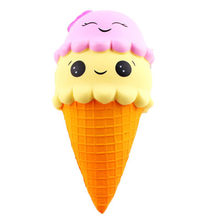 Smooshy mushy rebound double-headed ice cream slow rebound double-headed ice cream squishy smiley ice cream slow rebound bow(China)