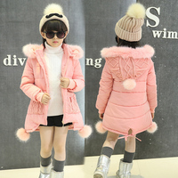 Girls Coat Jacket Winter Jackets Duck Down Children Girl Kids Clothes Coats Parka Korean For 4