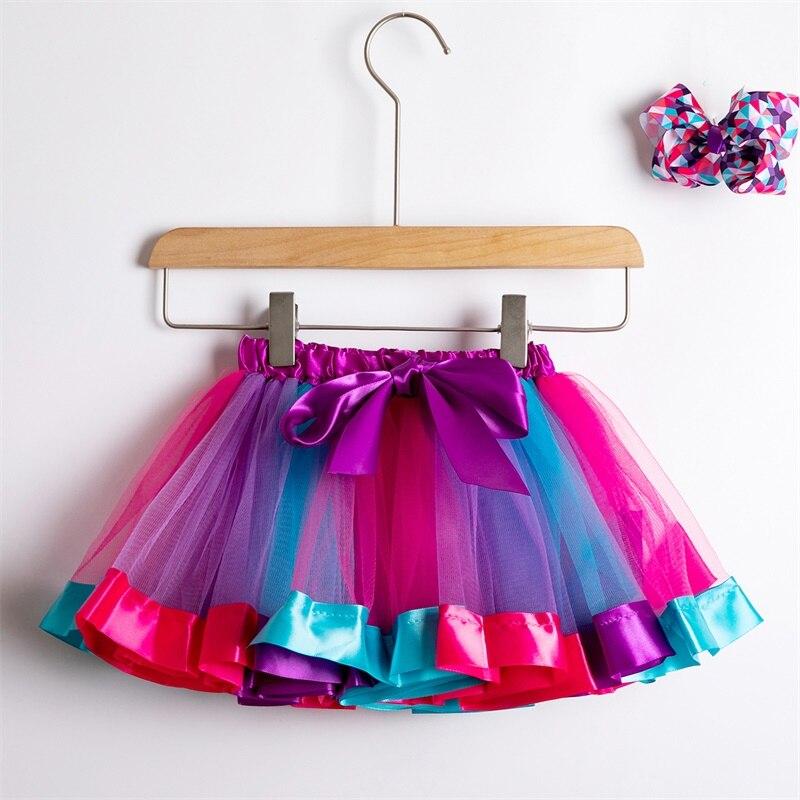 Юбка-пачка; юбки для маленьких девочек от 1 до 8 лет; юбка-американка принцессы; фатиновые юбки радужной расцветки для вечеринок и танцев; Одежда для девочек; одежда для детей - Цвет: 2