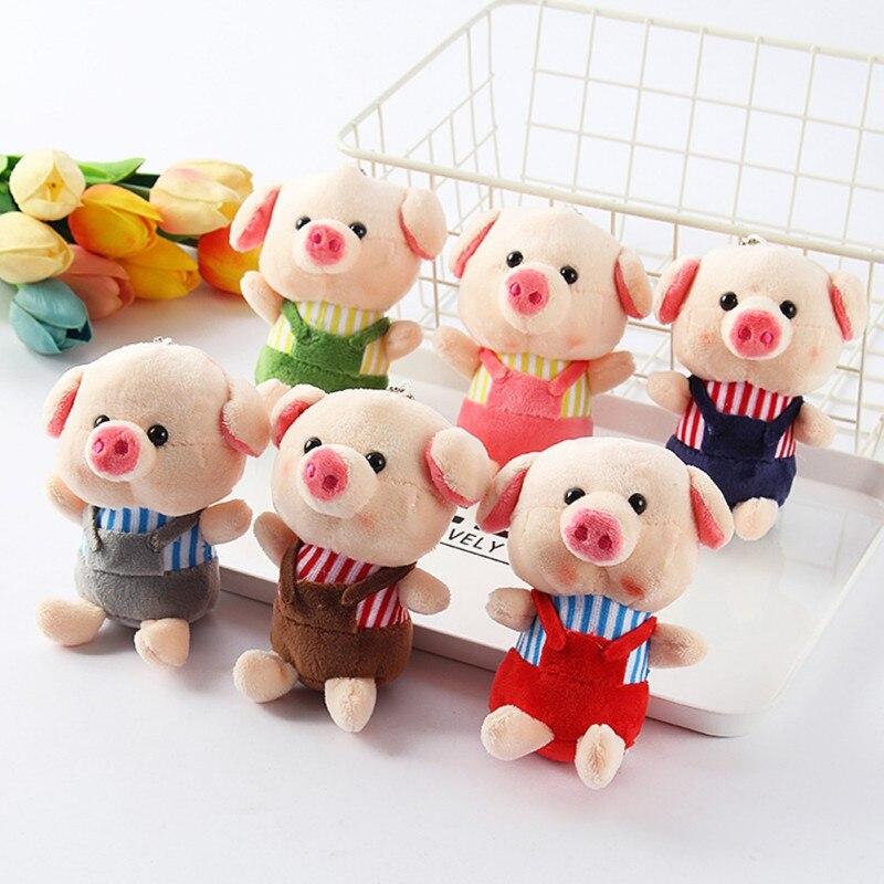 Little Size NEW Cat Pig Plush , Animal Stuffed Cat Key chain TOY, Kid's Party Plush TOY , Bouquet Plush Dolls Random Color