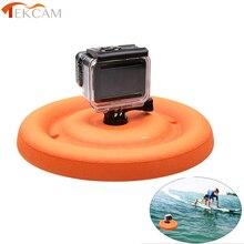 Tekcam Floating Mount Float Disc Base for GoPro Hero 5 6 4 3 Xiaomi Yi 4K Mijia 4K Sjcam Sj4000 Sj5000 Eken H9 H9R Go pro Mount