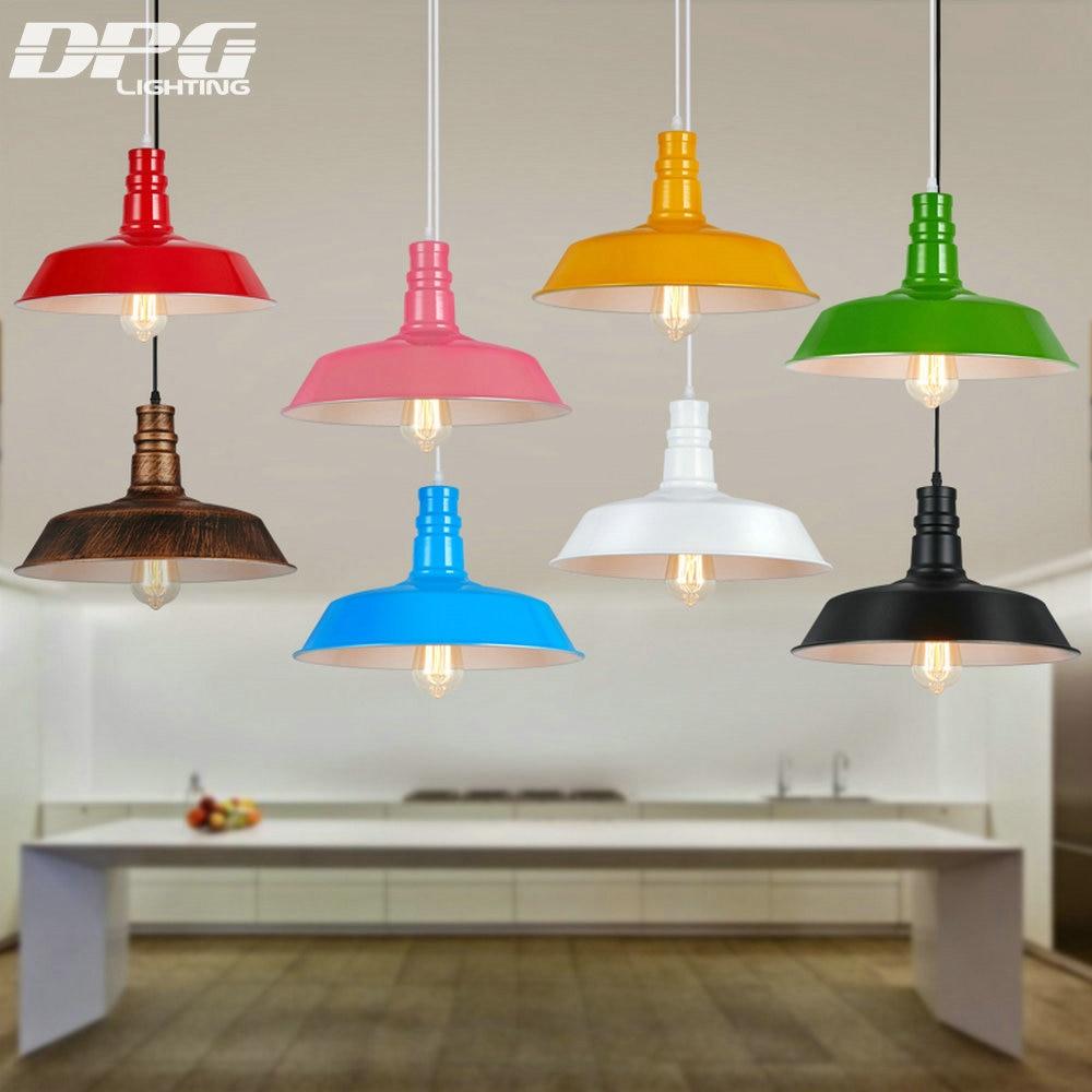 Podstrešje D 26,36,46cm Vintage industrijski obesek razsvetljava LED - Notranja razsvetljava - Fotografija 1