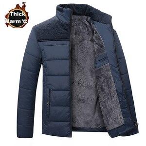 Image 2 - Winter Brand Men  Jacket Fur Hood With Cashmere Plus Size 5XL Winter Jacket High Quality Fashion Mens Coat Hot Sale Cotton suit