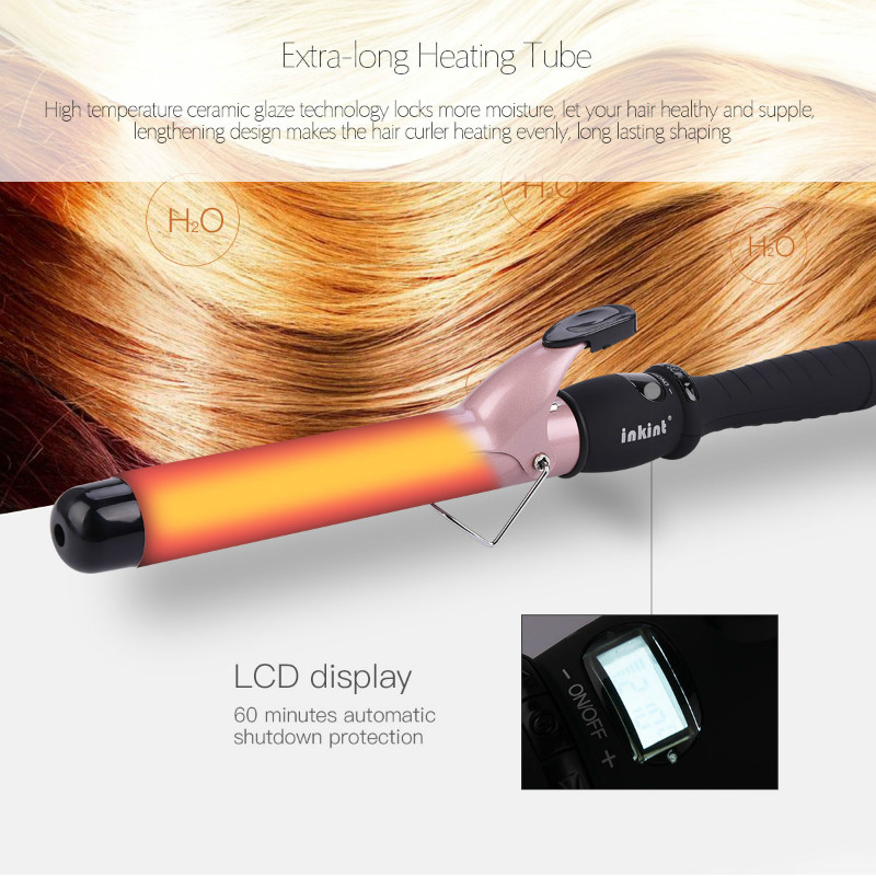 Electric Hair Curler Roller Corrugation Mini Cone Curling Iron Wand Curls Ceramic Hair Styling Tools LCD Hairdressing Salon newview mini hair curler iron ceramic styling tools electric hair curling tong curls volume roller