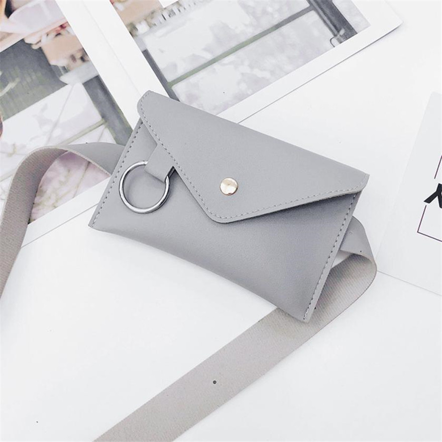 MOLAVE Waist Bag Fanny Pack Solid Waist Packs Hasp Fashion Women Ring Leather Messenger Bag Chest Bags May27 цена 2017