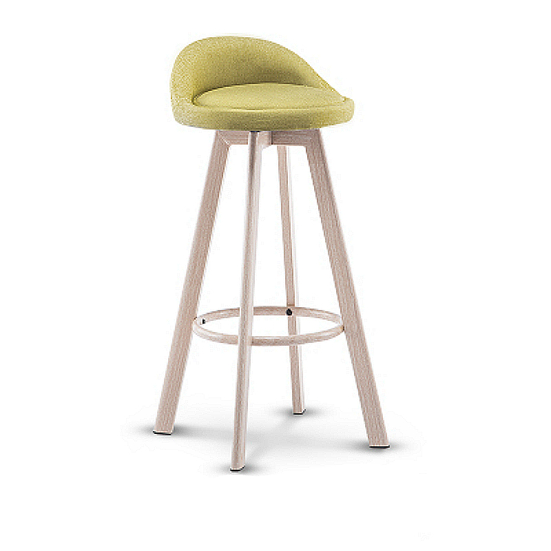 Creative Simple High Stool Wooden Stable Safe Multi-function Bar Chair Rotated Household Leisure Balcony Chair Front Desk Stool
