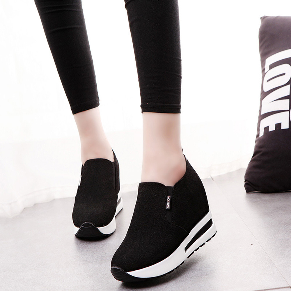 6fbdb1398 ladies sneakers platform trainers summer running shoes white shoes woman  cute ladies shoes with heels black H3