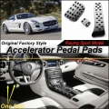 Car Accelerator Pedal Pad / Cover of Factory Sport Racing Design For Mercedes Benz SLS MB C197 / R197 Foot Pedal Throttle