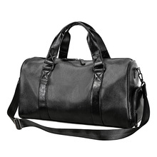 Men Travel Duffle Bags Waterproof Leather Handbags Shoulder Bag For Women Large Capacity Weekend design duffle handbag