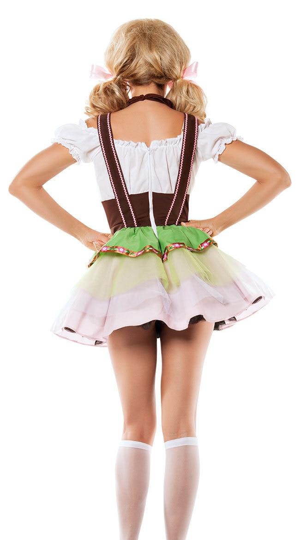 German Oktoberfest Bavarian Beer Wench Costume Maid Outfit Fancy UK Dirndl Dress
