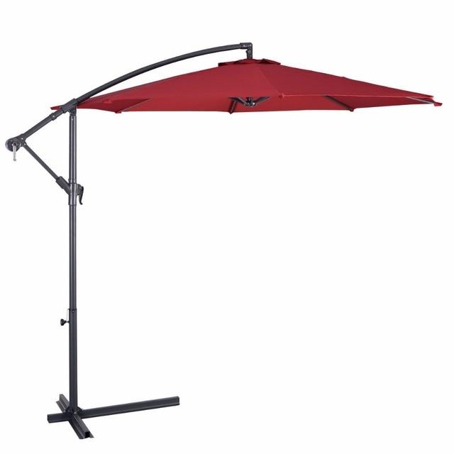 Giantex 10' Hanging Patio Umbrella  4