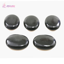 HIMABM 9*7*3cm 5PCS/ Pack Natrual Hot Spa Black Basalt Stone Massage Essential Oil Volcanic Energy SPA