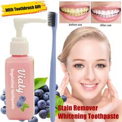 30 мл пищевая Сода зубная паста удаление пятен отбеливающая зубная паста борьба кровотечение десны Свежая Черника бутилированная зубная