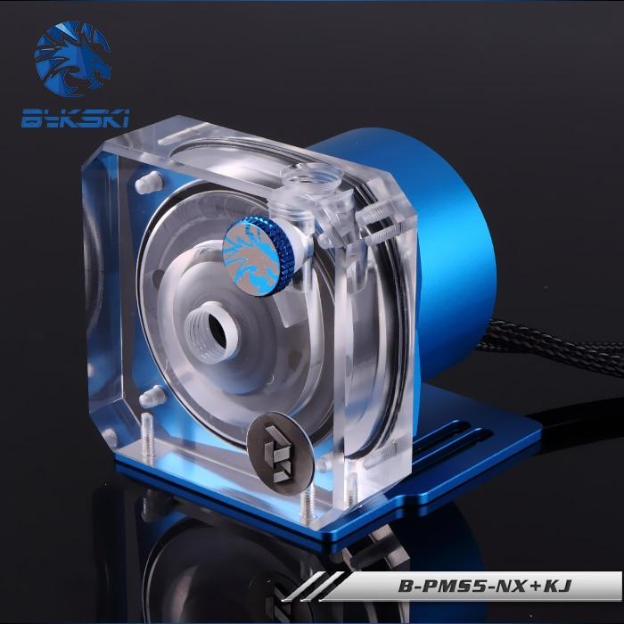 Bykski PWM pompe de contrôle de vitesse automatique système de refroidissement par eau débit maximal 1100L/H Compatible pompe D5 5 couleurs couvercle B-PMS5-NX