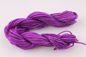 Image 5 - Wholesale 40 Roll Assorted Color 1mm 1.5mm Macrame Beading Rattail Braided Nylon Cords Kumihimo String Thread for Jewelry Making