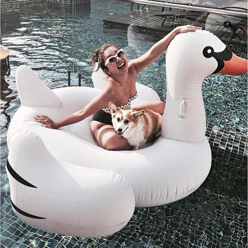 FREE SHIPPING Inflatable Flamingo Swan Swimming float