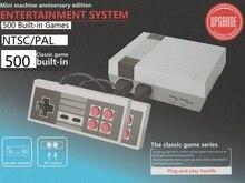 Мини ТВ игровой консоли для NES 8 bit игры с 500 различных Встроенные игры двойной Игровые поддерживает PAL и NTSC