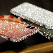 Luxury Glitter front film for iphone XR XS max 8 7 6 6s plus Shining Screen Protector for iphone Protective Film