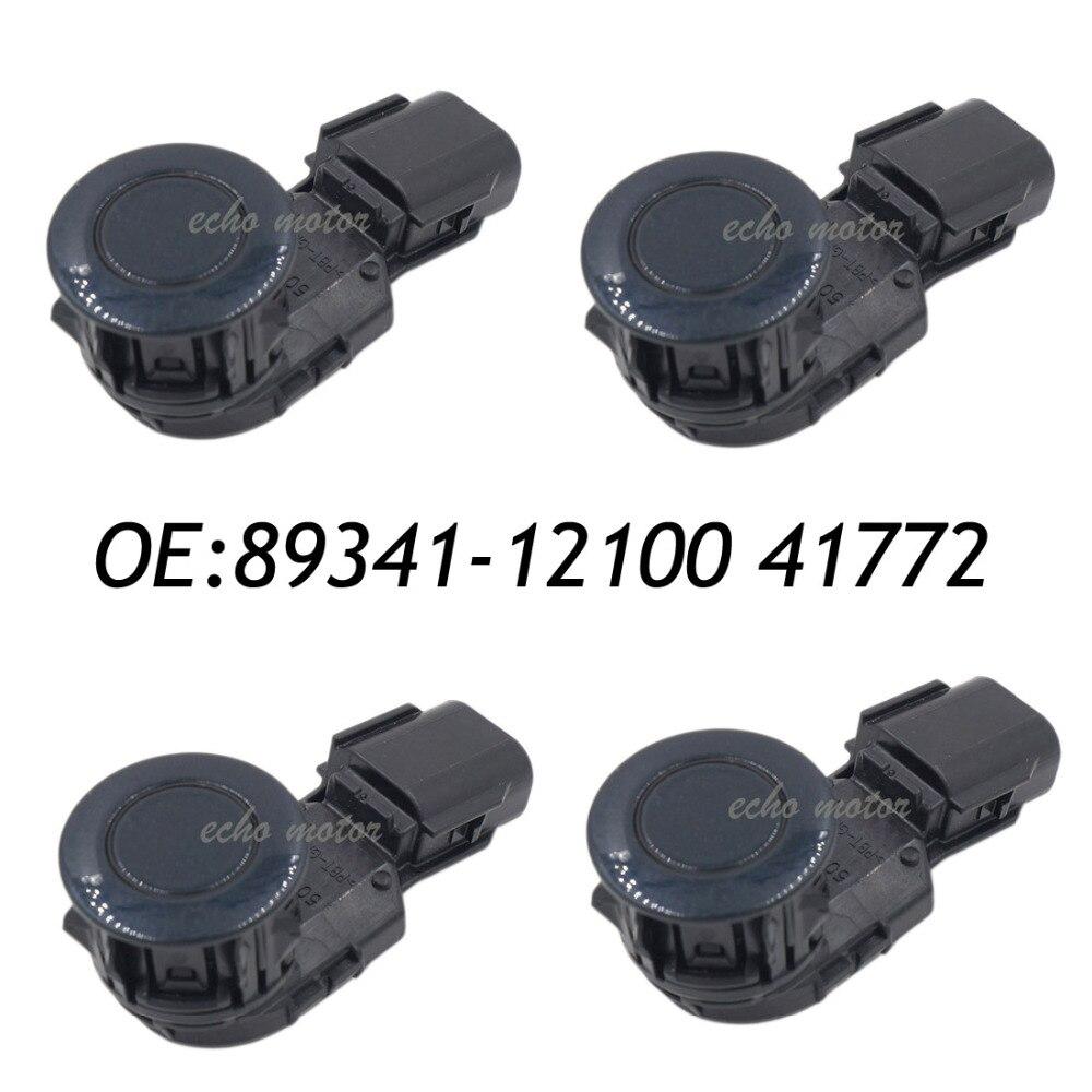 NEW SET(4) 89341-12100 41772 PDC Parking Sensor Ultrasonic For Toyota new 4pcs original parking sensor 10ca0212a ultrasonic pdc sensor for toyota yaris mazda