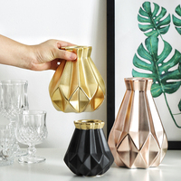Gold/black/pink Flower Vase Home Deco Ceramic Vase Flower Pots Planters Pots For Flowers