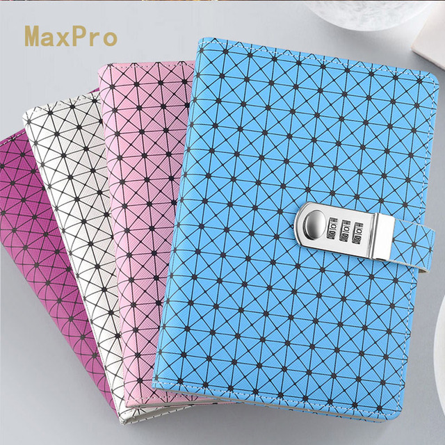 kawaii notebook fashion password planner diary fitted leather
