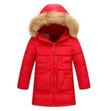 2017 Girl Winter Warm Coat Kid School Long Sleeve Fur Hooded Casual Long Jacket Kid Fashion Kid Snow wear Christmas Winter Coat